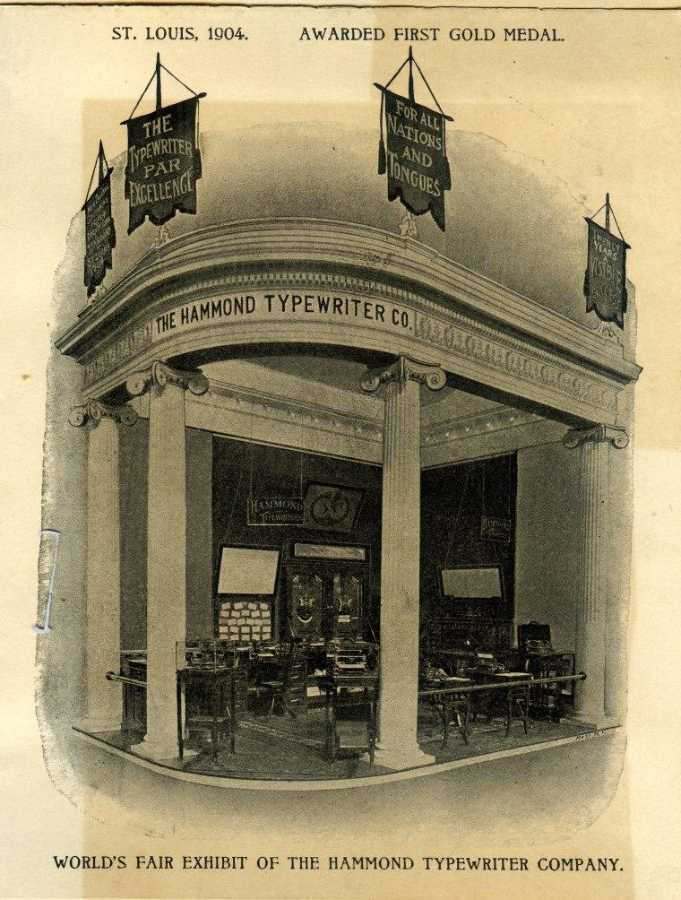 Hammond Brochure p.1, Louisiana Purch. Expo. 1904