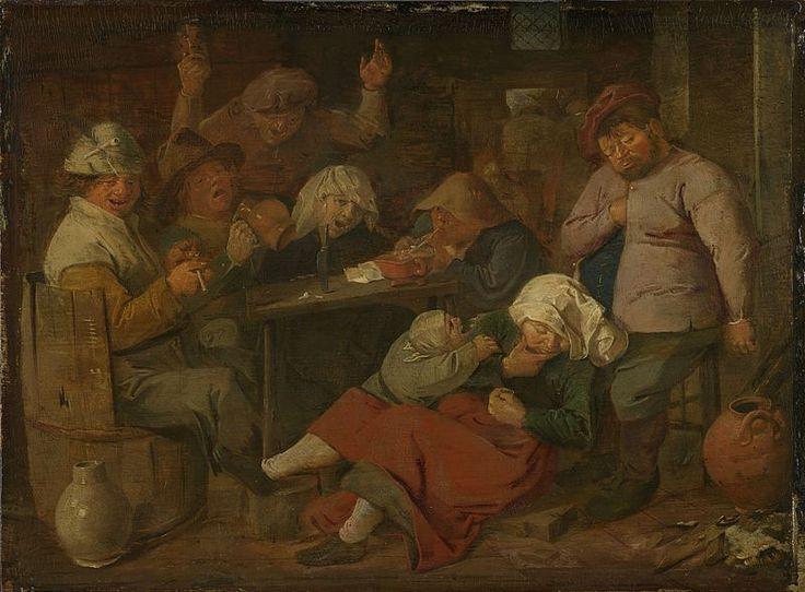 Adriaen Brouwer, Inn with Drunken Peasants, 1620s