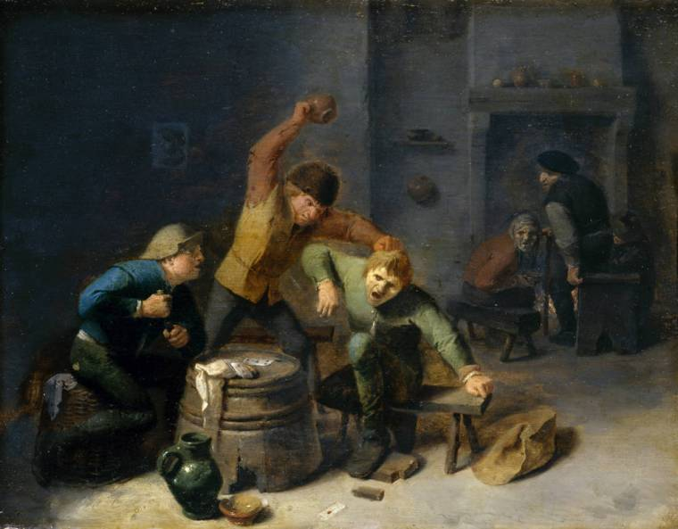 Adriaen_Brouwer_-_Peasants_Brawling_over_Cards