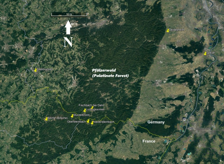Ancestral and Overlord Villages in and Near Palatinate Forest - V.2