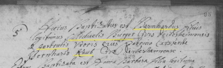 Baptism - Bernardhus Burger 1699 - Excerpt