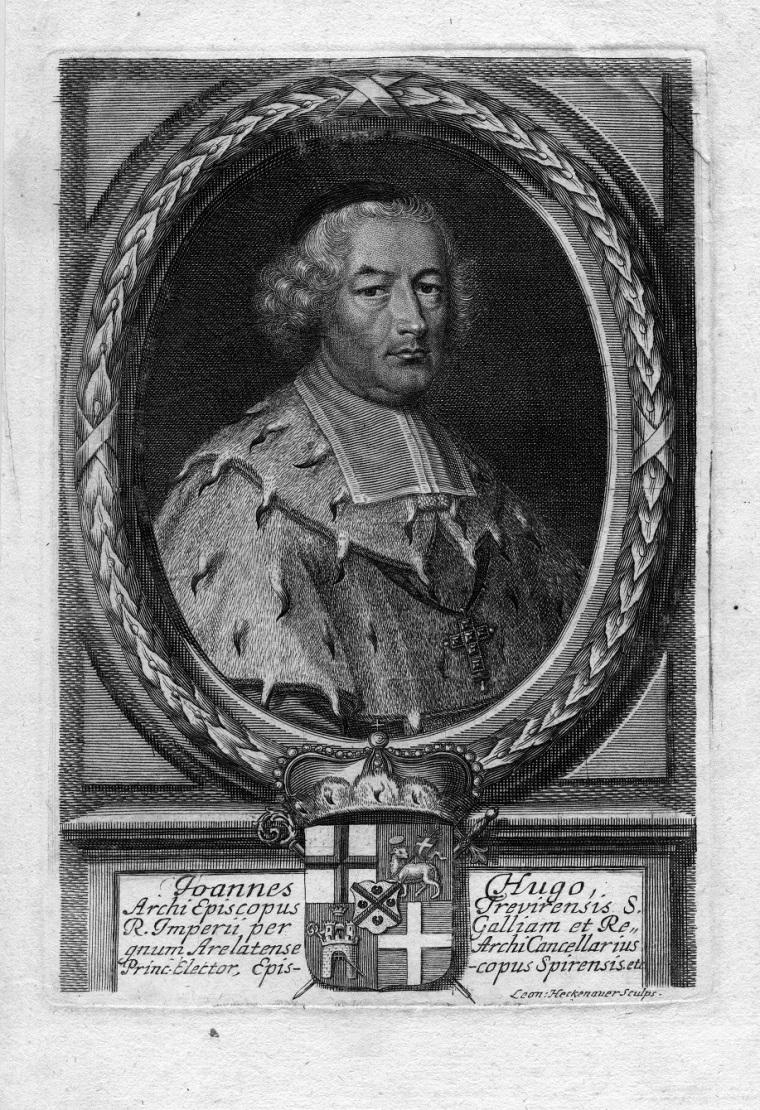 Bishop Johann Hugo von Orsbeck, Prince-Bishop of Speyer, ruler of Deidesheim