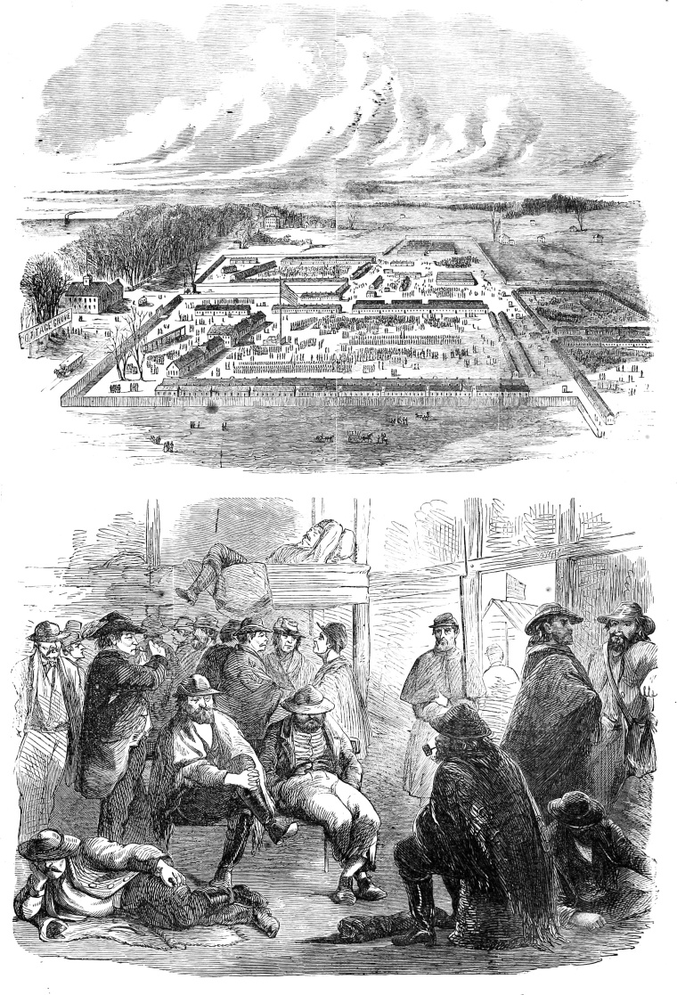 Camp_Douglas_(Chicago),_Harper's_Weekly_April_5,_1862 wikimedia commons