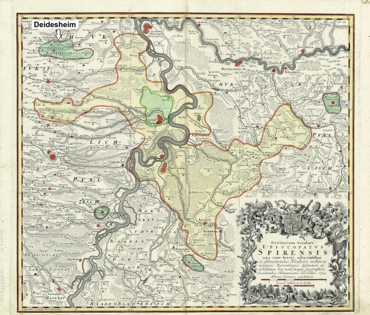 Fuerstbistum_Speyer_Heris_1735 Prince-Bishopric of Speyer (by Homann Heirs, 1735)