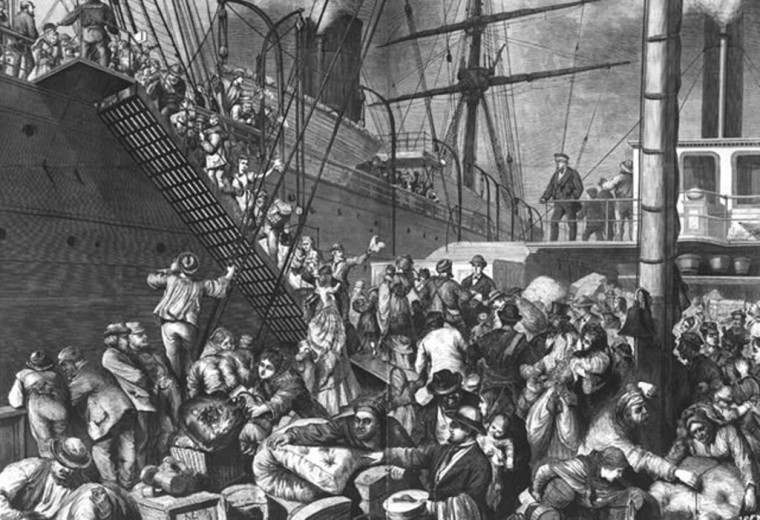 German immigrants boarding a ship for America European Reading Room Library of Congress