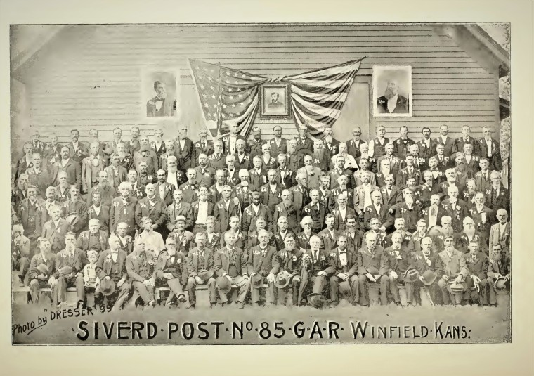 Grand Army Republic c. 1900 History of Cowley County KS Israel is No. 30 - Copy
