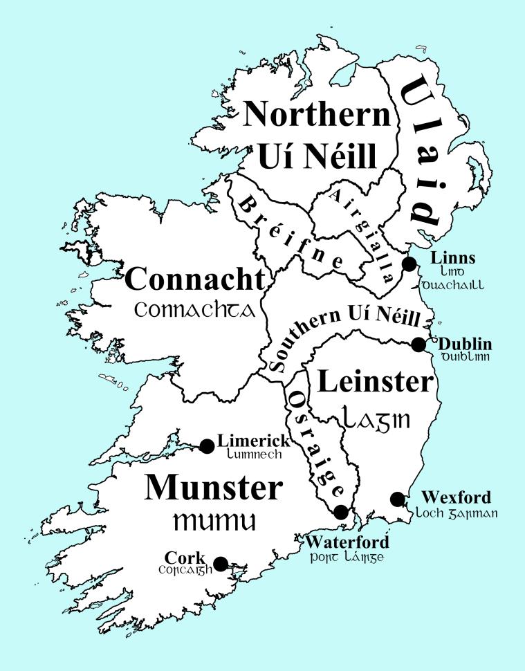 Ireland in 900 AD, Overkingdoms