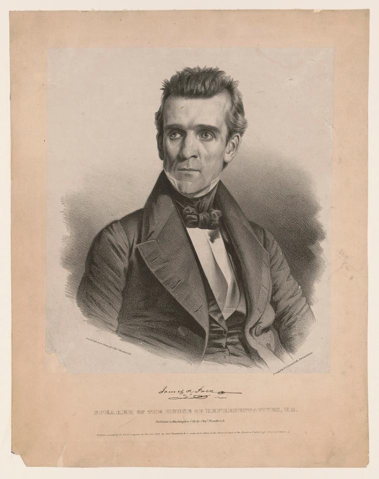 James Polk as Congressman, 1837 from LOC