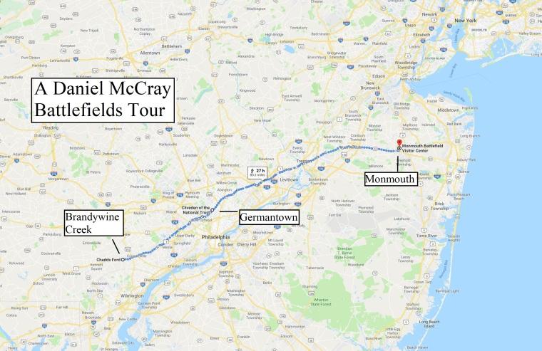 McCray Revolutionary Battlefield Sites Map