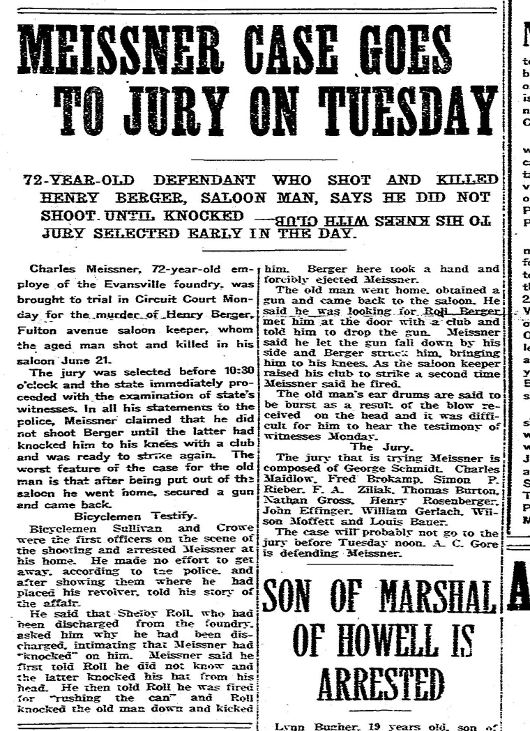 Meissner Case Goes to Jury on Tuesday Journal News Sept 22 1913 copy