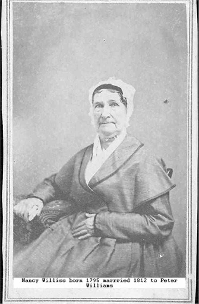 Nancy Williss, older sister of (John) Wesley Williss