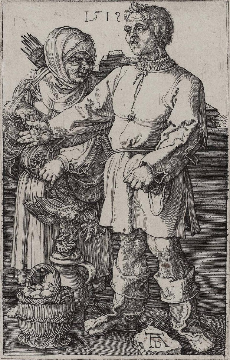 Peasants at the Market - Albrecht Dürer from Nurenburg_-_Marktbauern 1512