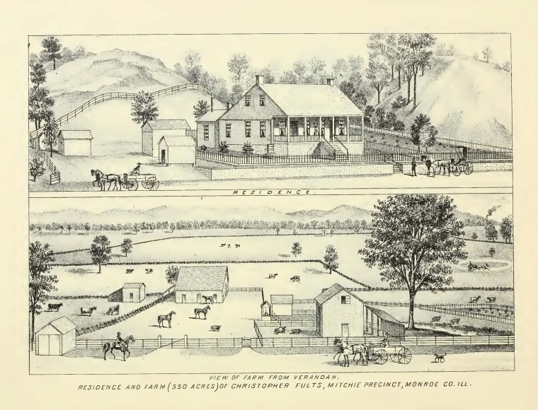 Scene in Mitchie area of Monroe County, Combined history of Randolph Monroe and Perry Counties (1894)