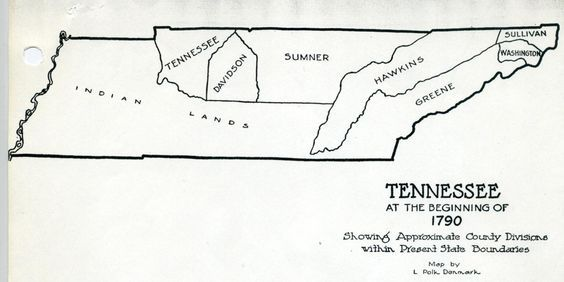 Tennessee Counties 1790