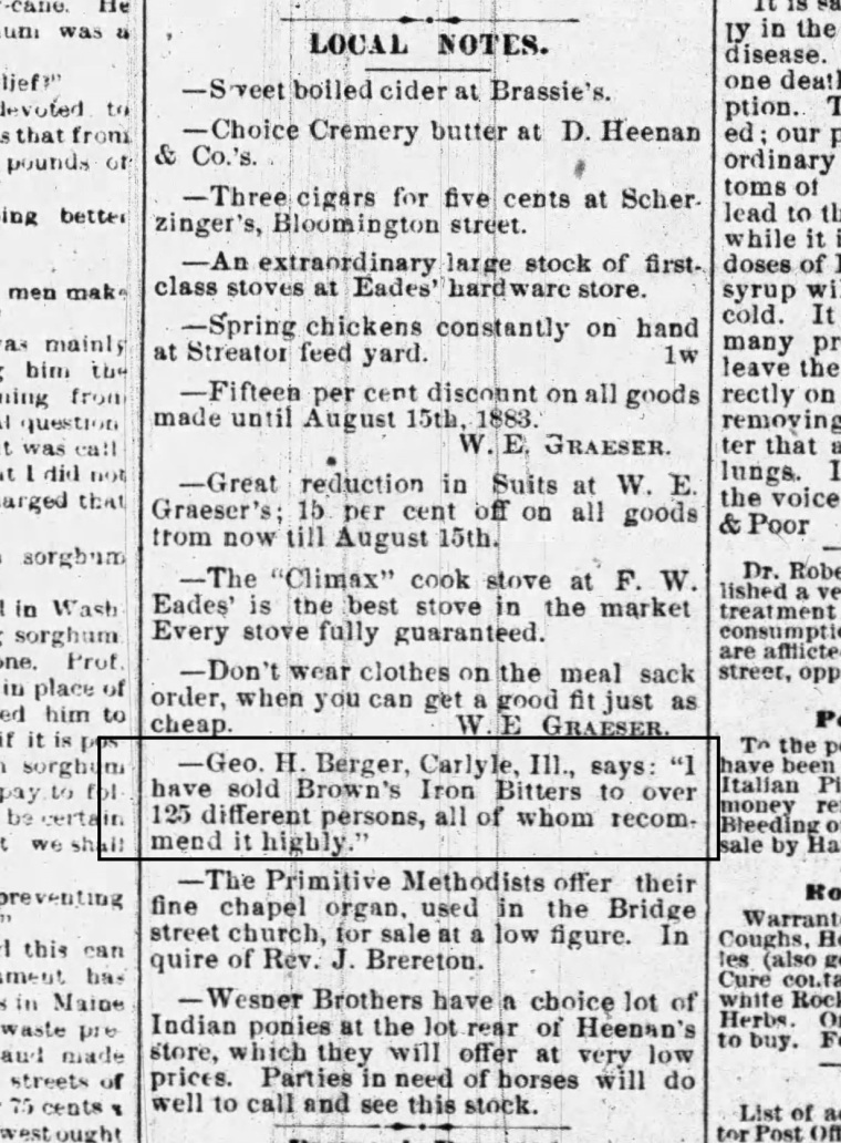 The Free Press (Streater, Illinois)_Wed.Aug.8.1883_iron bitters