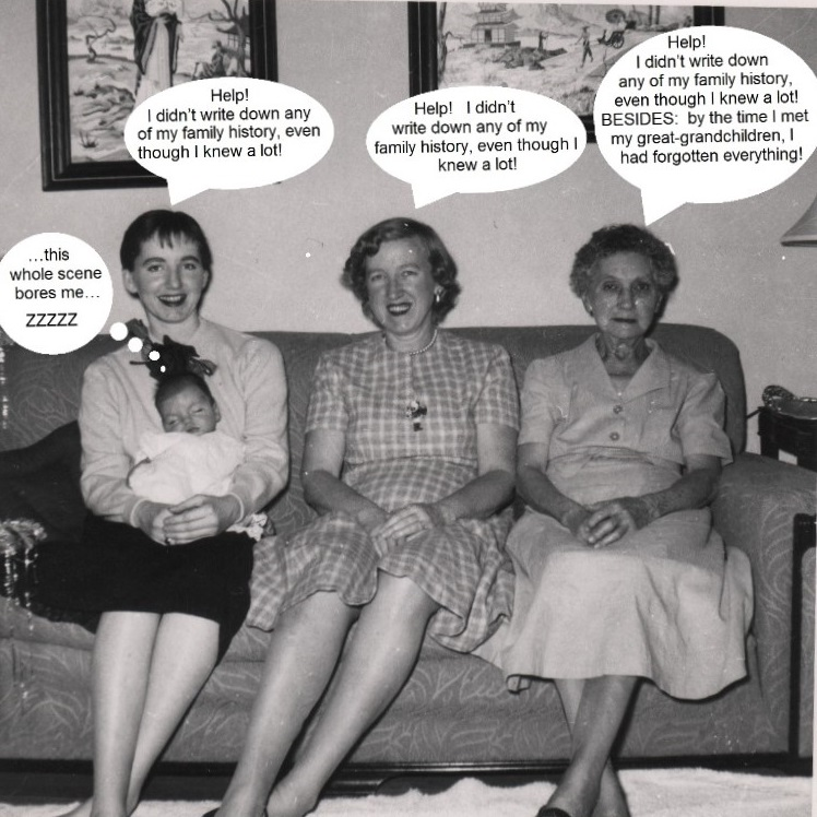 Xmas 1955 at 29 Topping Lane - Sally and Kimberly, Dorothy and Annie McCarthy